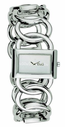 D&G Dolce & Gabbana DW0026 - Orologio da polso da donna, cinturino in acciaio inox colore argento