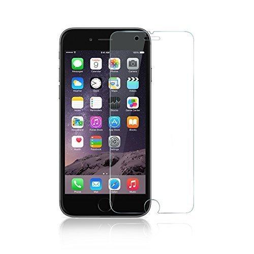 """Film de protection d'écran pour iPhone 6, Anker Film protecteur d'écran en verre trempé (4,7 """") pour Apple iPhone 6 (2014) dureté 9H et Installation facile sans bulles garantie   à vie"""