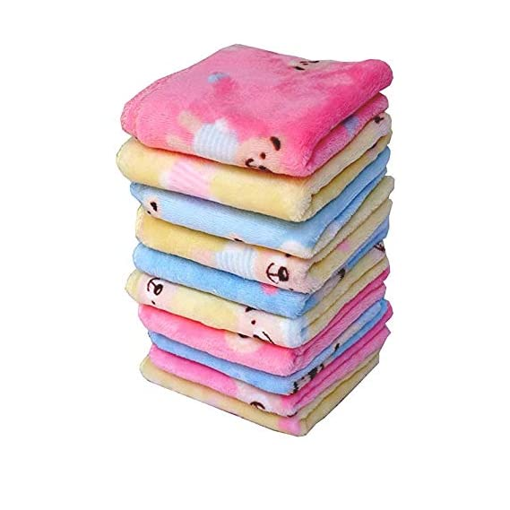 B.H Printed Soft Cotton Face Towel Come Handkerchief for Girls, Women and Kids (25x25 cm, Multicolour) - Pack of 12