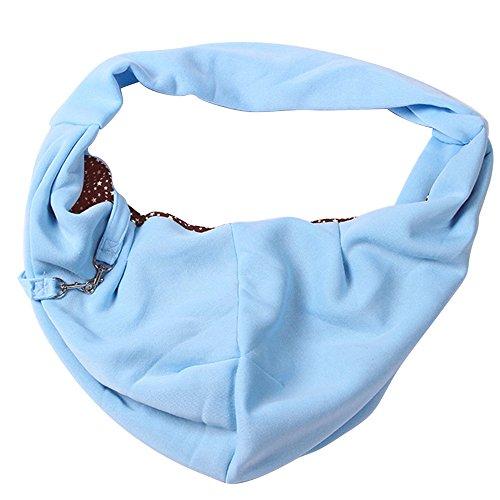 Komfortable Sling Pet Carrier Bag Hund Welpen Katze Kopf aus Breathable Safe Travel Outdoor Tragetasche blau (Hund Carrier Tragetaschen)