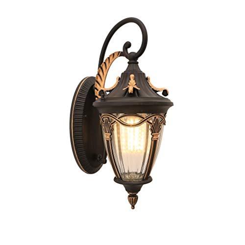 Bronze-gold Leaf (JZMB * LED Wasserdichte Wandleuchte Außen Europäische Villa Garten Hof Amerikanische Terrasse Wandtyp Hängende Landschaftslampe (Farbe: Maple Leaf Gold))