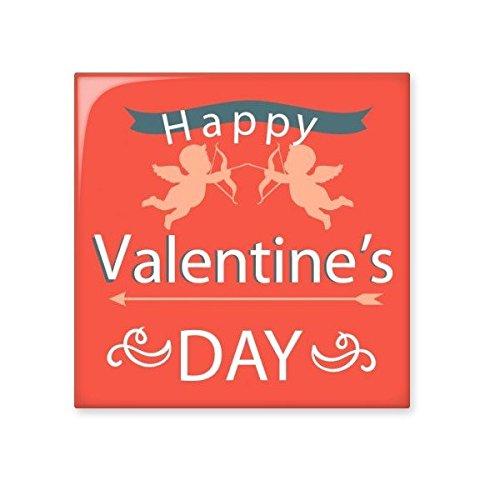 DIYthinker Happy Valentinstag Rot Rosa Weiß Engel Banner Illustration Muster Keramik Bisque Fliesen für Dekorieren Badezimmer-Dekor Küche Keramische Fliesen Wandfliesen L -