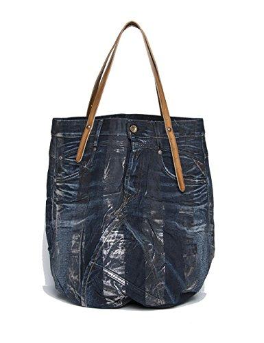 Replay Women's Women's Denim Blue Tote Bag In Size One Size Blue (Blue Denim Tote)