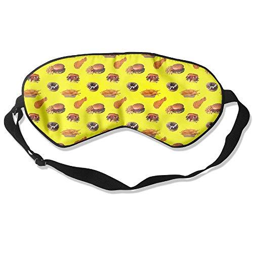 Sleeping Eye Mask Fast Food Fries Harmburger Chicken -