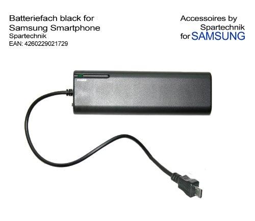 Batteriefach für Samsung - externes Batterieladegerät für S2 S3 S4 Tab 3 B7722i C3530 Chat T335 350 Corby II E1360 Galaxy S I9000 S2 551 Galaxy S Plus Nexus S Omnia 7 523S S8500 Wave Star II 525 723 Ace Ace 2 -schwarz