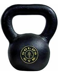 Golds Gym 16 - Mancuerna ( de 5,1 a 20 kg, 16 kg, con asa, ejercicio ) , color negro