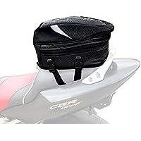 JFG Bolsa de Equipaje para Motocicleta, Impermeable, Bolsa de Asiento Deportivo Multifuncional de Piel sintética, Bolsa de Almacenamiento para Casco de Motocicleta, Mochila de equitación, 18,5 litros
