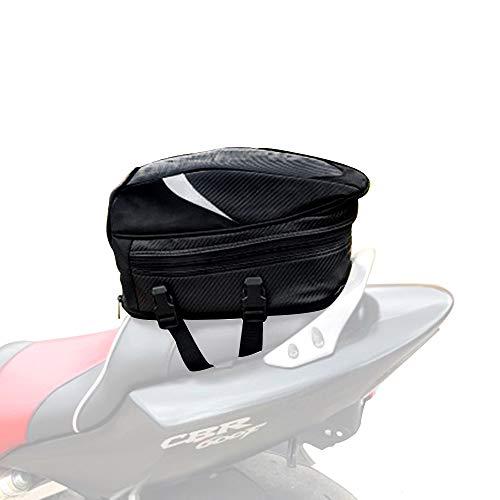 JFG Bolsas de Asiento para Motocicleta, Impermeable, Bolsa de Equipaje Deportivo Multifuncional...