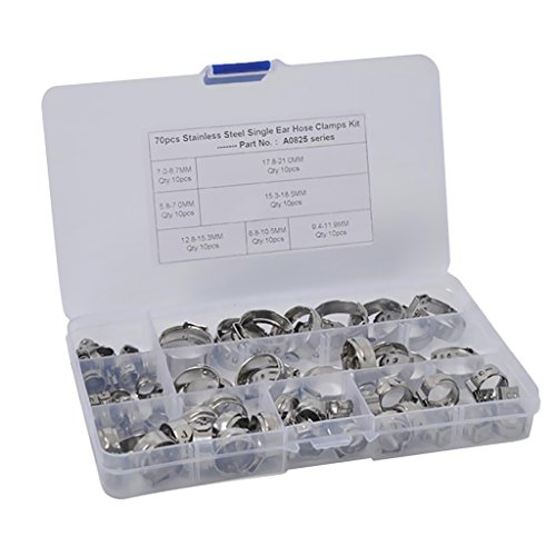 Homyl Pinces O pour Colliers de Serrage Tuyaux Pneumatique - 70 x 5.8-21.0mm