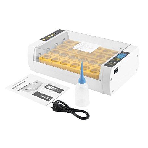Funnyrunstore Pratico 24 Uova Grande capacità Mini incubatrice per Pollo pollame quaglia Turchia Uova Uso Domestico Automatico Uovo tornitura (Giallo)