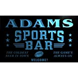 tj1036-b Adams Sport Bar Beer Pub Club Neon Sign Barlicht Neonlicht Lichtwerbung