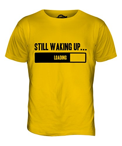 CandyMix Still Waking Up T-Shirt da Uomo Maglietta Giallo Scuro
