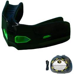 Brain Pad Protector para deportes de combate, modelo de entrenamiento táctico, negro/verde