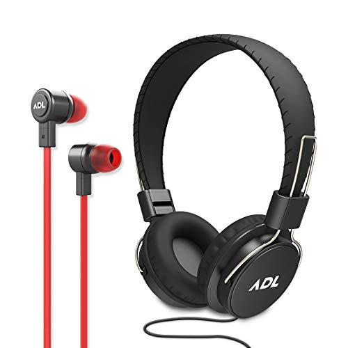 ADL Music Escape S900 Wired Headphones and Earphones 2 in 1 Combo (Black)