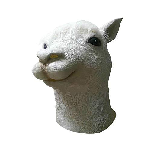 Gesicht Kostüm Schaf - Tier Alpaka Maske Erwachsene Voller Gesicht Latex Maske Schaf Kopf Cosplay Kostüm Halloween Requisiten Tricks Clown Maskerade Party Maske
