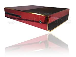 Microsoft Xbox One Polished Chrome Red/Gold Two Tone Skin Wrap Cover Decal