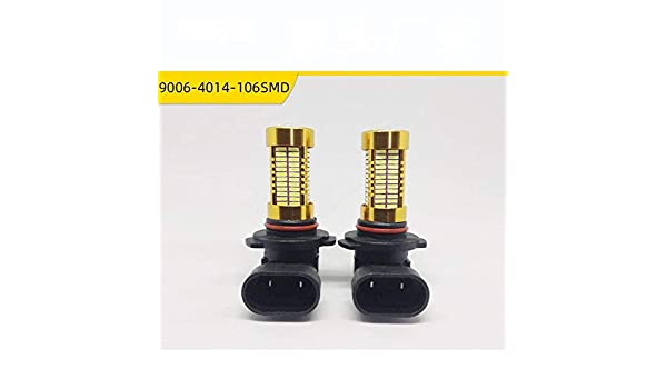 Dumai Led Fog Light 9006 Fog Light 106 Light 4014 Car Fog Light 106 Light H10 9005 Fog Light 1ps Fog light Color : Green light, Quantity : 1