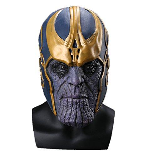 K-Y YKLatex Maske Thanos Avengers 3cos Halloween Maske Männlich Heroes Infinity Gauntlet Männer Spiel (Mask)