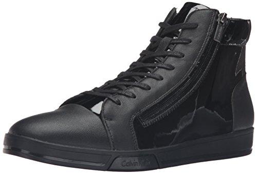 Calvin Klein Berke Lea Patent Smooth F0753BLACK, Turnschuhe - 43 EU (Calvin Klein Stiefel Männer)