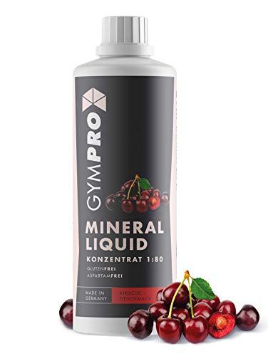 GymPro Mineraldrink Mineralgetränk Low Carb Vital Drink 1:80, 1000ml Sirup Konzentrat in Flasche mit L-Carnitin, Magnesium und Vitamin für Fitness (Kirsche)