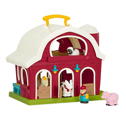 Battat - Big Red Barn - Bauernhof Spielzeug Set mit Tieren für Kinder ab 18 Monaten (6 Teile)