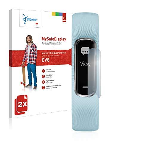 2X Bildschirmschutzfolie CV8 von 3M kompatibel mit Garmin Vivosmart 4 Schutzfolie Folie