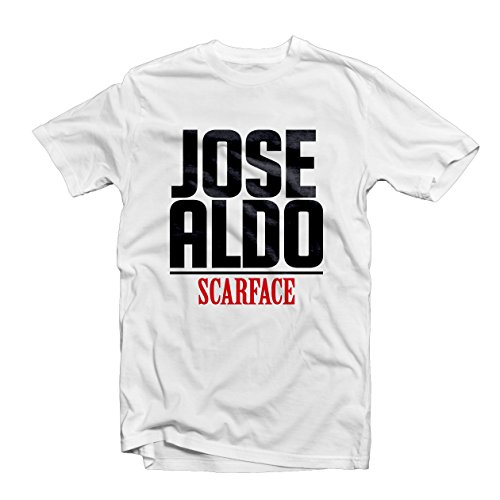 Jose Aldo Scarface t shirt 1483 – Brasile Arti Marziali Champion Legend Cage Fighting Conor Mcgregor UFC MMA White
