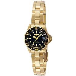 Invicta 8943 Pro Diver Reloj para Mujer acero inoxidable Cuarzo Esfera negro