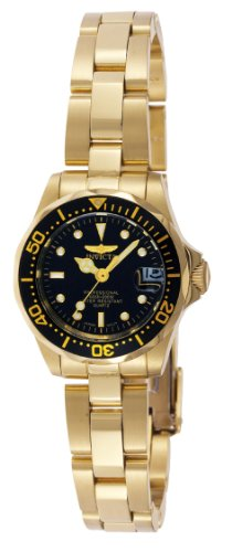 Invicta 8943 Pro Diver Women's Wrist Watch Stainless Steel Quartz Black Dial