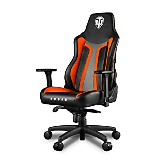 Arozzi Vernazza World of Tanks Silla Gamer, Piel sintética, Naranja, 50 x 55 x 130 cm