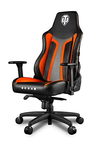 Arozzi Vernazza World Of Tanks silla Gamer, piel sintética, naranja, 50 x 55 x 130 cm)