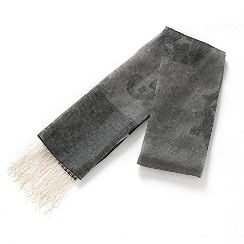 GJX@ Signore sciarpe di seta di lusso Joker lungo con frange sciarpa di seta moda sciarpa