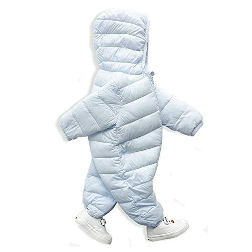 (SuperCimi Infant Neugeborenen Baby Hoodie Onesies Reißverschluss Daunenjacke Overall Kinderwagen Snuggly Snow Suit)
