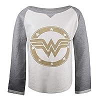 DC Comics Vrouwen Wonderwoman Goud Logo Sweatshirt