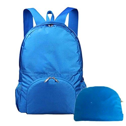 Yy.f Ultra-light Falten Schulterbeutel Die Hautbeutel Wasserdicht Reisen Freizeit Outdoor-Kletterrucksack Multifunktionale Rucksack. Multicolor Blue