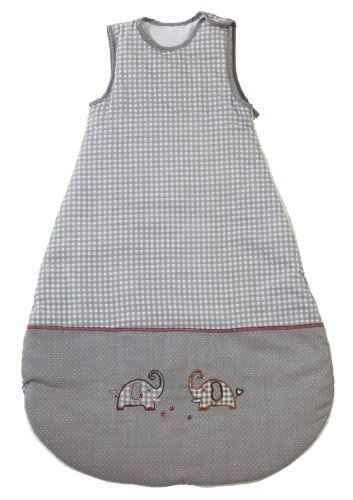 roba Schlafsack, 110 cm, Kinderschlafsack ganzjahres/ganzjährig, aus atmungsaktiver Baumwolle, Kleinkindschlafsack unisex, Kollektion 'Jumbotwins'