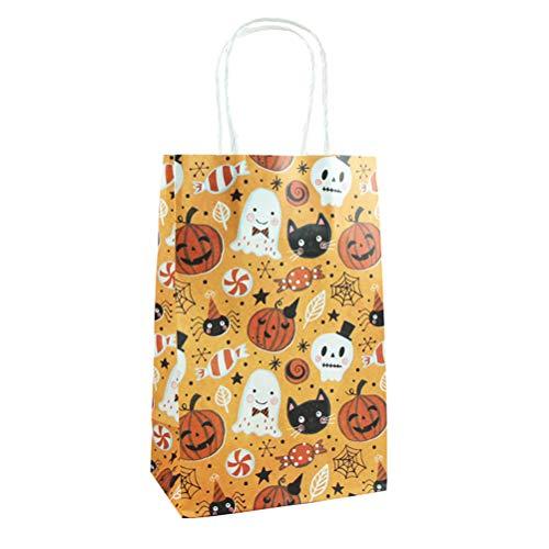 Toyvian Halloween Papier Candy Bags Schädel Kürbis Katze Druck Geschenk Taschen für Festival Party 10 Stück