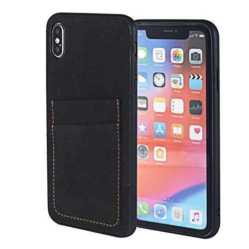 Ace Leder (ACE COAT Schutzhülle für iPhone XS max 6,5 cm (6,5, Leder, schlankes Design, mit Kartenfächern, Kartenfächern, für Apple Smartphones)