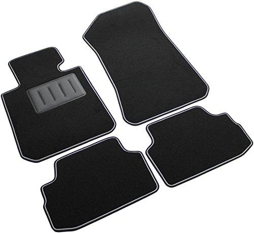 Il Tappeto Auto SPRINT00301 - Alfombrillas de moqueta para coche, color negro, antideslizantes, con borde bicolor, laterales reforzados de goma, para Serie 1 E81 de 3 puertas, años 2007-2012