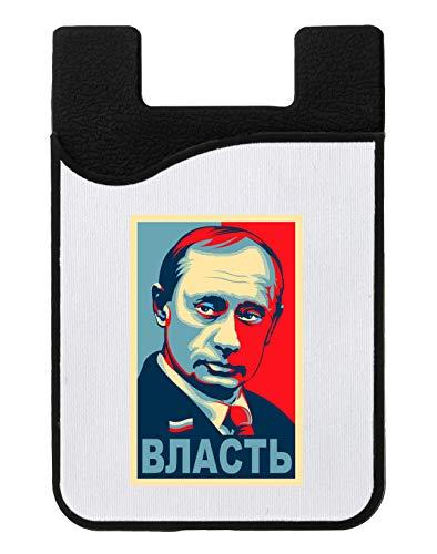 Putin Vlast President Kreditkarteninhaber für Telefon Credit Card Holder Wallet for Smartphone Mobile