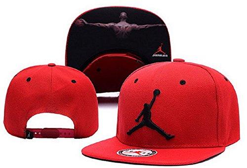 Cappello Air Jordan regolabile Hip Hop Sport Fans Hyst Unisex eresen cappellino da Baseball (rosso, 2)