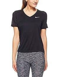 7c2c20081f1a Nike Haut de Running À Manches Courtes Miler T- T-Shirt Femme