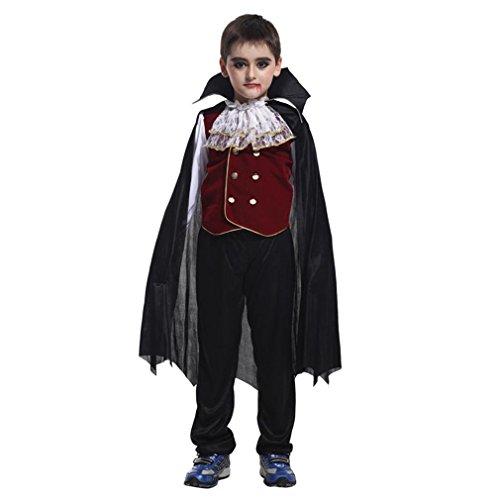 Elistelle Cosplay Kostüm Kinder Jungen Vampir Kostüm Halloween Cosplay Kostüme Karneval Fasching (Kostüme Kinder Prom Deluxe)