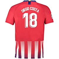 2018-2019 Atletico Madrid Home Nike Football Soccer T-Shirt Camiseta (Diego Costa 18) - Kids