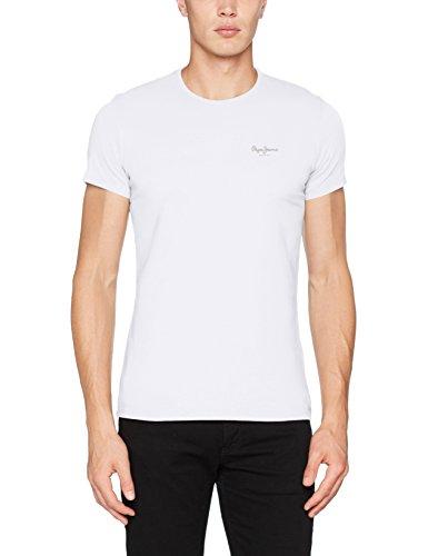 Pepe Jeans Herren Original Basic S/s T-Shirt, Weiß (White), Medium -