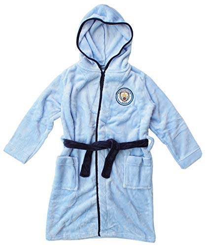 Preisvergleich Produktbild Herren Offiziell Manchester Man City MCFC Fleece Bademantel Bademantel Größen M L XL - Blau, Large