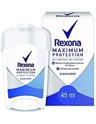 Rexona Déodorant Stick Maximum Protection Fresh, Agit Efficacement Contre la Transpiration et Nourrit Votre Peau (Lot de 3x45ml)