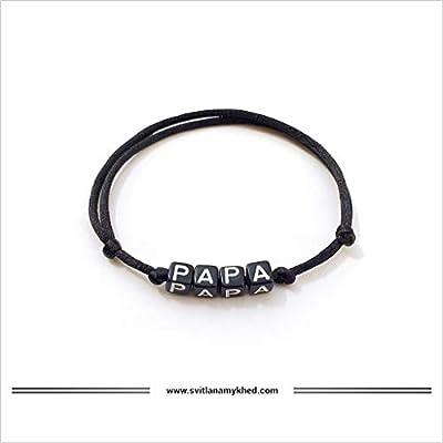 Bracelet personnalisé avec message PAPA (réversible) homme, femme, enfant, bébé, nouveau,né.