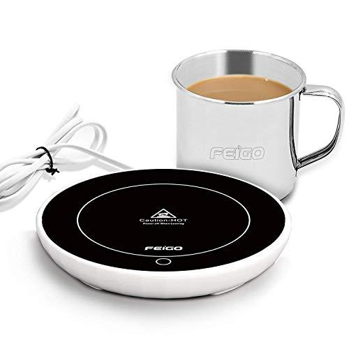 Zoiibuy FEIGO Tassenwärmer Automatischer Schwerkraftschalter Kaffeewärmer Kaffee Tee Tasse Wärmer Multifunktionale Becher