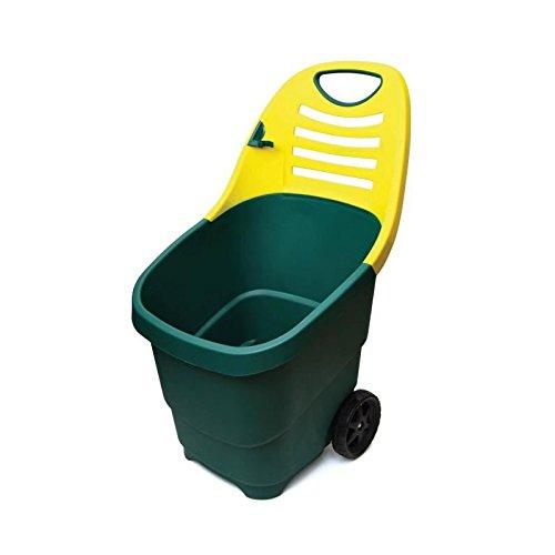 Tec Hit 390670 Chariot de jardin brouette 67 litres 2 roues diam. 170 mm, Vert Et Jaune